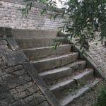 Escalier au bord du Rhône
