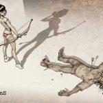 Des filles en sous-vêtements contre des zombies.