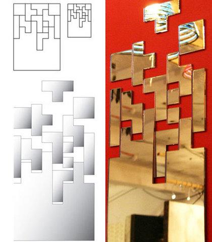 Miroir Tetris parfait pour une déco geek