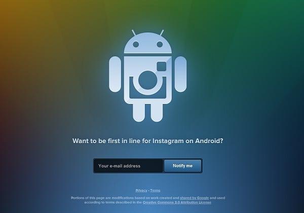 page pré-inscription instagram