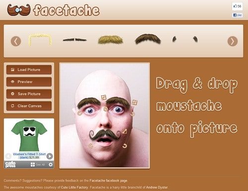 screen facetache