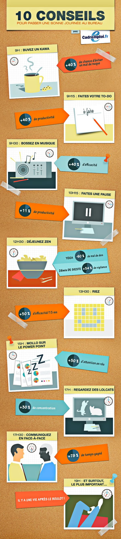 infographie 10 conseils au travail