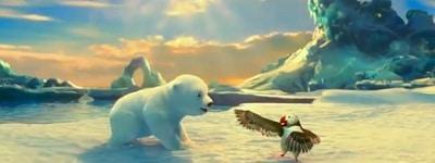 Ours Coca-Cola danse avec les macareux