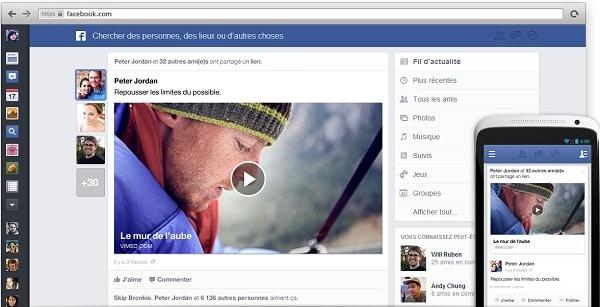 obtenir le nouveau facebook