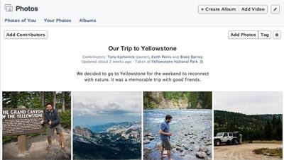 facebook lance les albums photo collaboratifs permettant à plusieurs utilisateurs d'ajouter des photos dans un même album.
