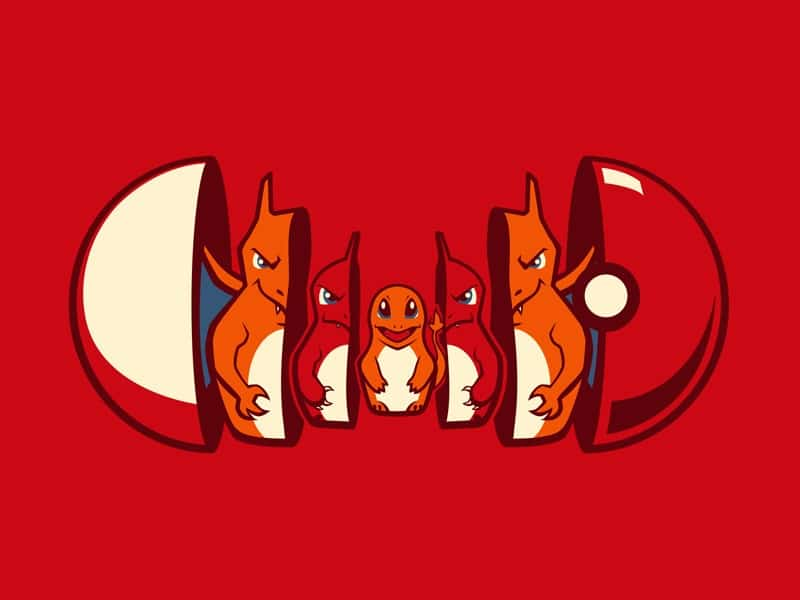 pokemon illustration évolution pokéball