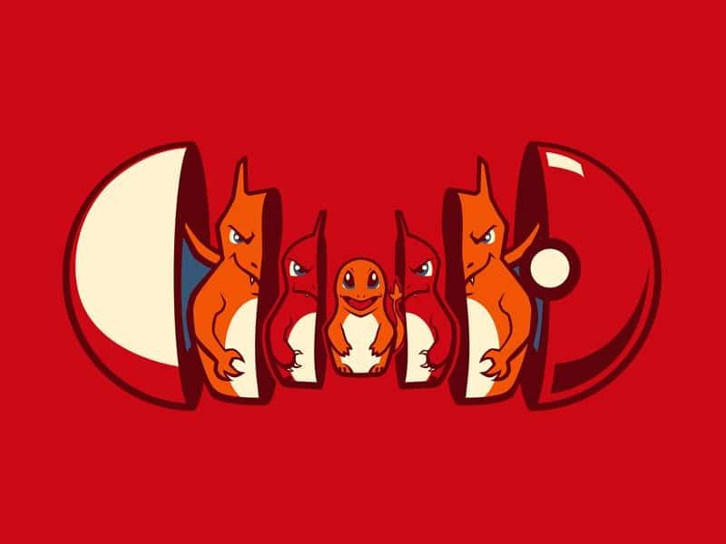 pokemon illustration évolution pokéball
