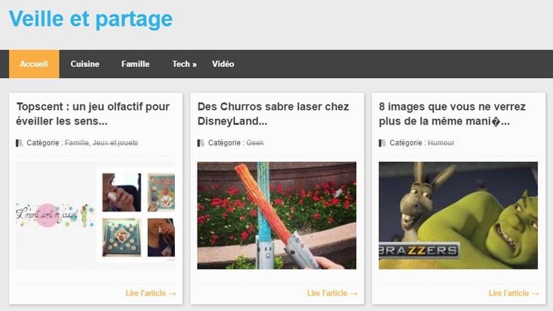 Veille et partage site de curation